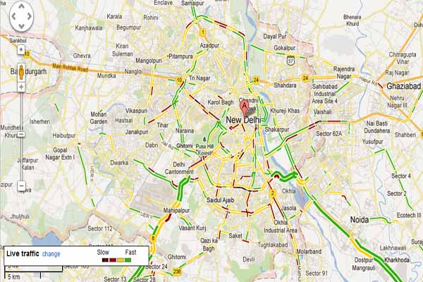 Google Maps to give live Traffic reports and Navigation. – BuggingWeb