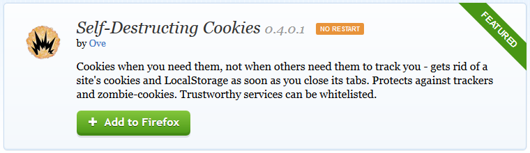 Self destructive cookies for better privacy in Mozilla Firefox_1_buggingweb