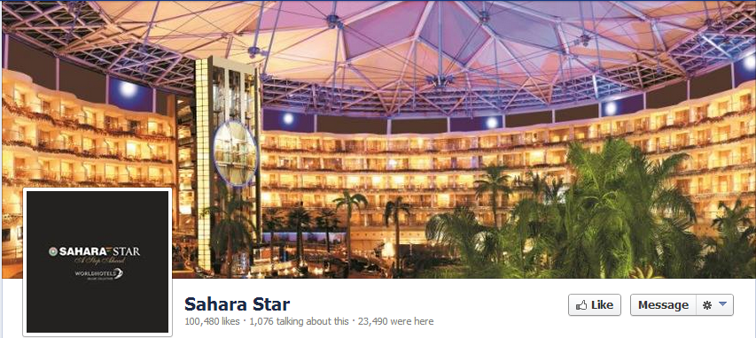 Facebook Page - Sahara Star